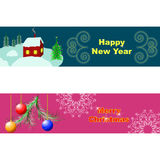 Merry Christmas and Happy New Year postcards Royalty Free Stock Photography
