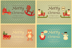 Merry Christmas and Happy New Year Posters Set Royalty Free Stock Photos
