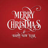 Merry Christmas. Happy New Year. Red Background. Merry Christmas. Card. Happy New Year. Red Background Stock Images