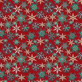 Merry Christmas and Happy New Year red background pattern Royalty Free Stock Image