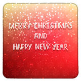 Merry Christmas and Happy New Year red card Royalty Free Stock Photography