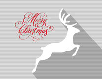Merry christmas and happy new year reindeer holiday Royalty Free Stock Photos