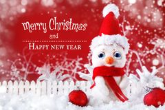 Merry Christmas and Happy New Year. A New Year`s background with New Year decorations, Stock Photography