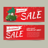 Merry Christmas and Happy New Year Sale Card Design  Stock Image