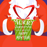 Merry Christmas and Happy New Year Santa Claus Royalty Free Stock Photos