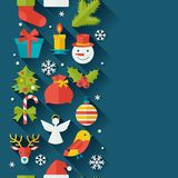 Merry Christmas and Happy New Year seamless. Pattern Royalty Free Stock Image