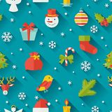 Merry Christmas and Happy New Year seamless. Pattern Royalty Free Stock Photography