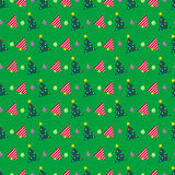 Merry Christmas and Happy New Year Seamless Pattern with Christmas Tree. Winter Holidays Wrapping Paper. Vector background Royalty Free Stock Photo
