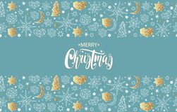 Merry Christmas and Happy New Year seamless pattern Stock Image
