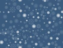 Merry Christmas and Happy New Year seamless pattern with snowflakes. Vector snowfall illustration for your winter holiday design royalty free illustration