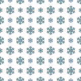 Merry Christmas and Happy New Year Seamless Pattern with Snowflakes. Winter Holidays Wrapping Paper. Vector background Stock Image