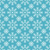 Merry Christmas and Happy New Year seamless pattern with white snowflakes. Abstract winter blue background for your holiday design. Vector illustration stock illustration