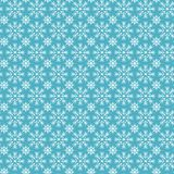 Merry Christmas and Happy New Year seamless pattern with white snowflakes. Abstract winter blue background for your holiday design. Vector illustration for royalty free stock image