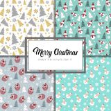 Merry Christmas And Happy New Year Seamless Pattern Winter Holidays Ornament Wrapping Paper Background Concept. Vector Illustration vector illustration