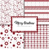 Merry Christmas And Happy New Year Seamless Pattern Winter Holidays Ornament Wrapping Paper Background Concept. Vector Illustration Stock Image