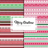 Merry Christmas And Happy New Year Seamless Pattern Winter Holidays Ornament Wrapping Paper Background Concept. Vector Illustration Royalty Free Stock Images