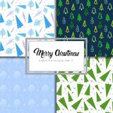 Merry Christmas And Happy New Year Seamless Pattern Winter Holidays Ornament Wrapping Paper Background Concept. Vector Illustration Royalty Free Stock Photo