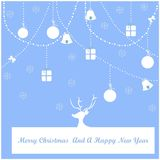 Merry Christmas and a happy new year. Seasonal wishes , illustration vector Stock Images