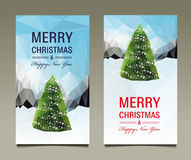 Merry Christmas Happy New Year set card Royalty Free Stock Photography