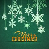 Merry Christmas and Happy New Year Snowflake Card Stock Photography