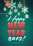 Merry Christmas and Happy New Year Snowflake Card Royalty Free Stock Photos