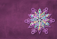 Merry Christmas and happy new year snowflake made with colorful triangles background. Christmas festive card. Royalty Free Stock Images
