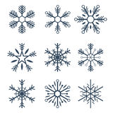 Merry Christmas and Happy New Year. Snowflakes. Vector illustration. Merry Christmas and Happy New Year. Snowflakes. Vector illustration stock illustration