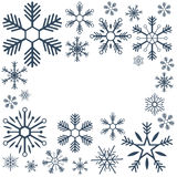 Merry Christmas and Happy New Year. Snowflakes. Vector illustration. Merry Christmas and Happy New Year. Snowflakes. Vector illustration royalty free illustration