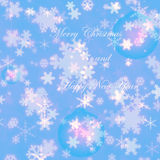 Merry Christmas and happy new year snowflakes winter  greeting card. A wonderful vibrant 2016 new year / Christmas greeting card perfect for your loved ones Royalty Free Stock Photo
