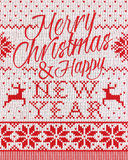 Merry Christmas and happy new year style seamless Royalty Free Stock Image