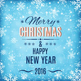 Merry Christmas and Happy New Year text label Royalty Free Stock Images