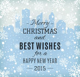 Merry Christmas and Happy New Year text label Stock Photo
