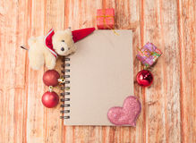 Merry Christmas and Happy New Year theme Stock Image