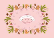 Christmas Top View Background royalty free illustration
