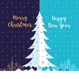 Merry Christmas and Happy New Year. Royalty Free Stock Image