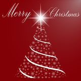 Merry Christmas and a happy new year. Christmas tree of snowflak Royalty Free Stock Images