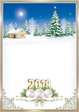 Merry Christmas and Happy New Year 2018 Royalty Free Stock Photo