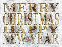 Merry Christmas Happy New Year Type Stock Photo