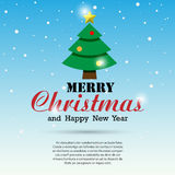 Merry Christmas and Happy New Year typographic background Royalty Free Stock Image