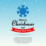 Merry Christmas and Happy New Year typographic background Royalty Free Stock Photo