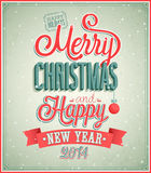 Merry Christmas and Happy New Year typographic des Stock Photos