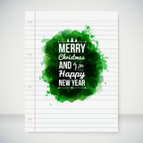 Merry Christmas and Happy New Year typographic hea Stock Photos