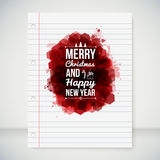 Merry Christmas and Happy New Year typographic hea Royalty Free Stock Image