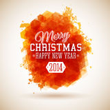Merry Christmas and Happy New Year typographic hea Stock Image