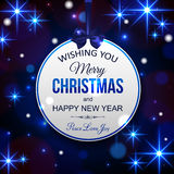 Merry Christmas and Happy New Year typographical Stock Image