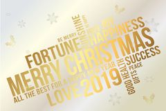 Merry Christmas and Happy New Year typography vector design for greeting cards, banner, invitation and poster. vector illustration