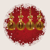 Merry Christmas and Happy New 2014 Year Royalty Free Stock Image