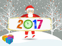 Merry christmas and Happy new year 2017. Vector Royalty Free Stock Photography