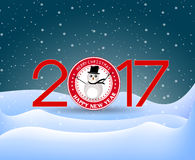 Merry christmas and Happy new year 2017. Vector Stock Photos