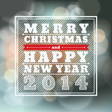 Merry Christmas and Happy New Year Vector Backgrou. Nd for card Stock Photography
